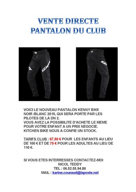 vente pantalon au club 2015