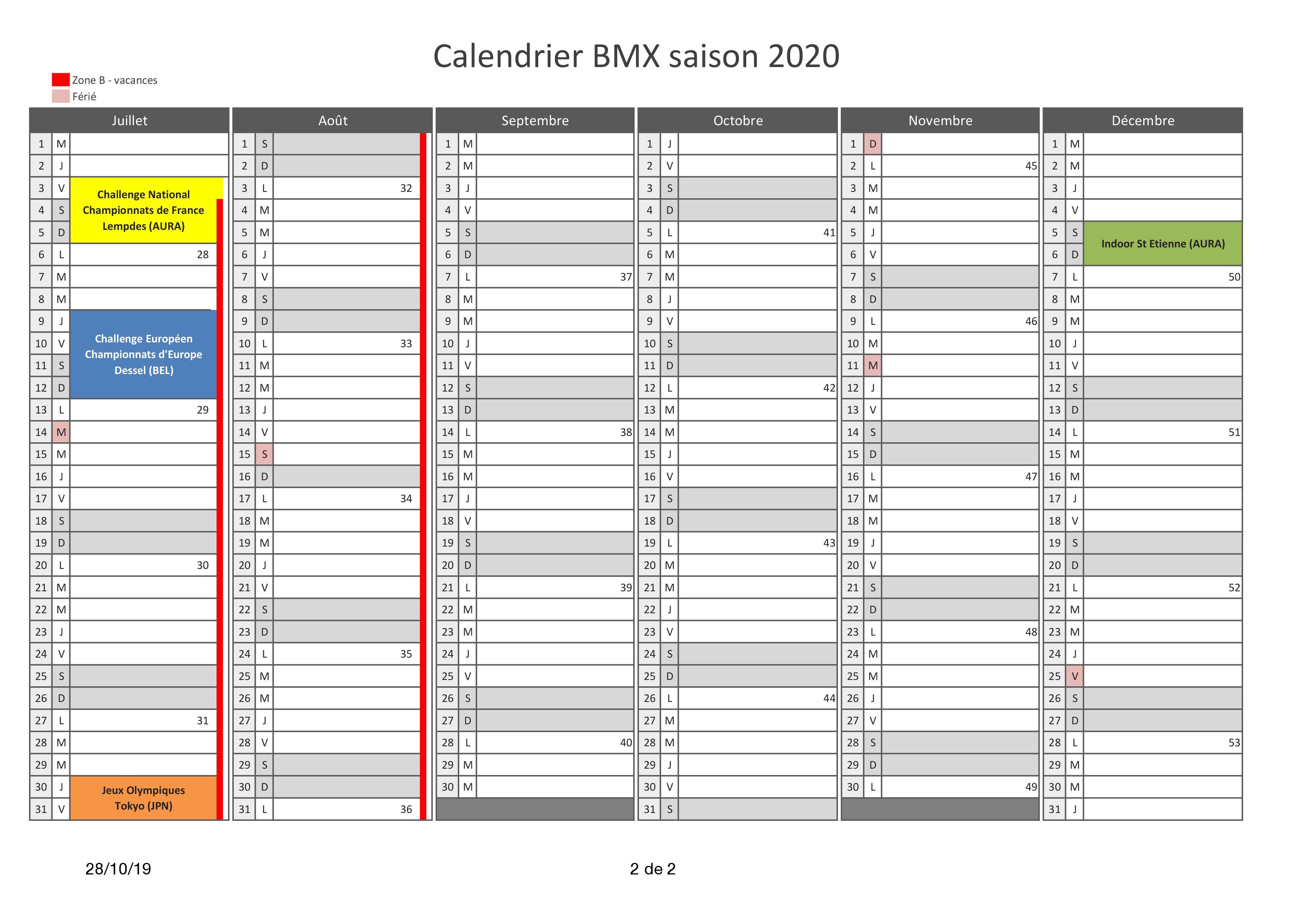Calendrier Course A Pied 2020.Competitions Bmx Club De Tregueux